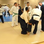 Soke Woodson inflicting pain on Sensei Jeff